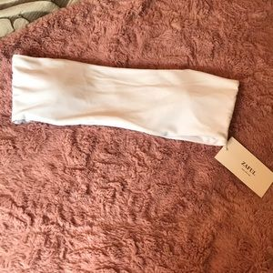 Zaful Bandeau Swim Top- Size 8
